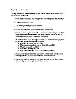 Prayer Journal Decoration Instructions