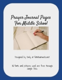 Prayer Journal Templates for Middle School