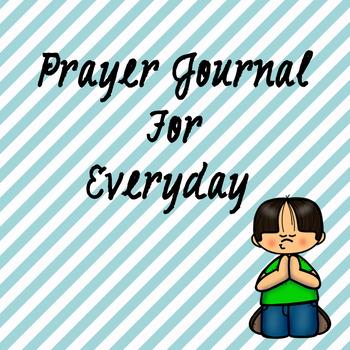 Prayer Journal for elementary students