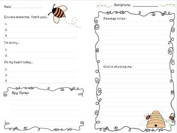 Prayer Log and Journal