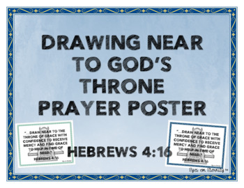Prayer Poster- Hebrews 4:16