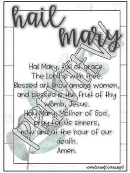 Prayer Posters - Our Father & Hail Mary - FARMHOUSE & LEAF