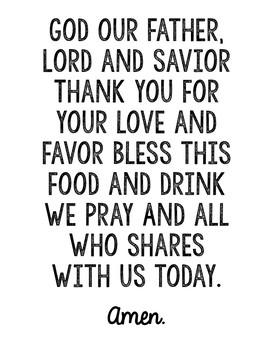Prayer Posters - Set of 7 in Black and White, Memory Verse, Sunday School