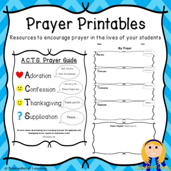 Writing Templates | Prayer Printables Includes Acts Prayer Guide Writing Templates