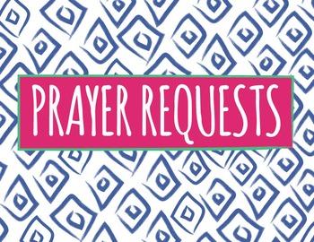 Prayer Requests   Aztec Pattern