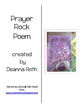 Prayer Rock Poem & Craft Project--Connecting With the Community