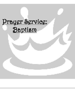 Prayer Service: Baptism
