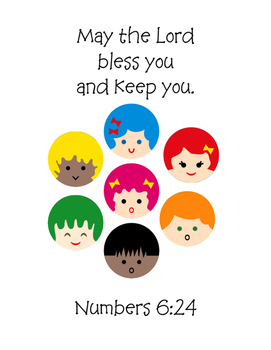 Prayer for a Child Bible Verse (Numbers 6:24) Printables