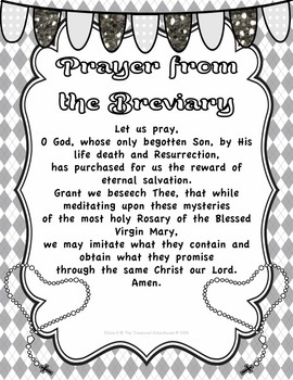 Prayer from the Breviary Prayer Pack