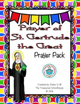 Prayer of St. Gertrude the Great Prayer Pack