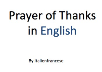 Prayer of Thanks in English Wishlist Priced