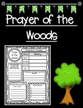 Prayer of the Woods Reading Companion Close Reading Graphic Organizer