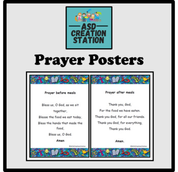 Prayer posters (morning, evening before and after meals) A5