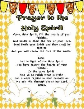 Prayer to the Holy Spirit Prayer Pack