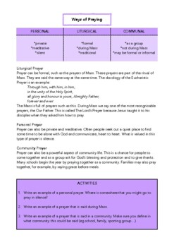 What is Prayer? Let's Make a Booklet.