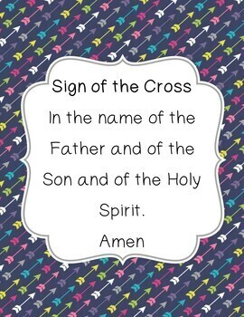 Prayers: Sign of the Cross, Our Father, Hail Mary, and Grace Before a Meal