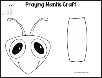 Praying Mantis Fact Booklet Digital Activities By Thebeezyteacher