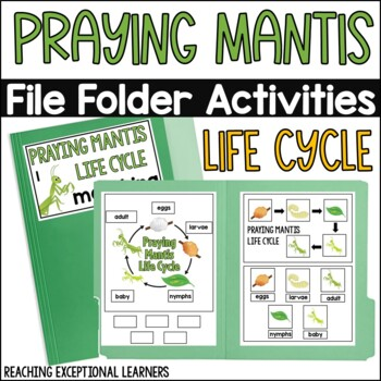 Praying Mantis Life Cycle File Folder Activity