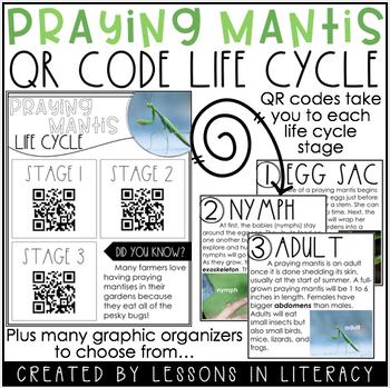 Praying Mantis Life Cycle {QR Codes}