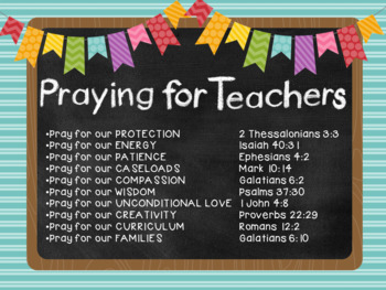 Praying for SLPs and Other Educators