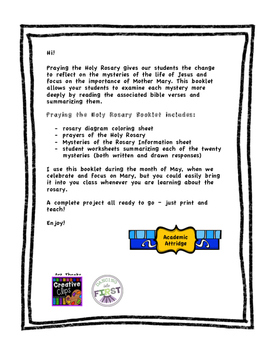 Praying the Rosary - Complete Workbook with Bible Readings!