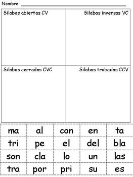 Prctica con las silabas