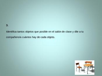 Práctica de hablar para español 1