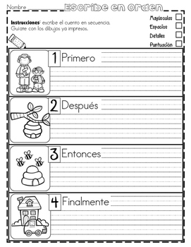 Práctica de secuencias con dibujos - PRIMAVERA
