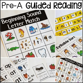 Guided Reading Lessons - Pre-A Activities