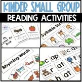 Kindergarten Small Group Reading Activities