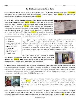 Pre AP/AP Spanish Desafios Mundiales Reading - Cuba Libreta de Rancionamiento