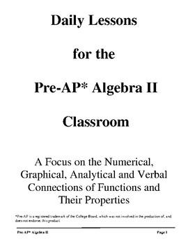 Pre-AP* Algebra II -- A Complete Course
