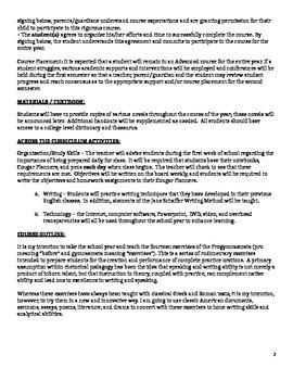 Pre-AP Course Expectations