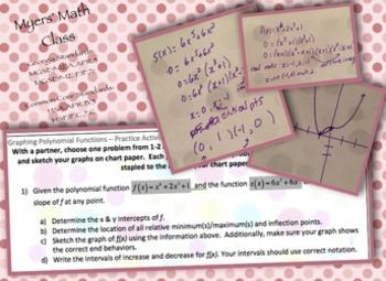 Pre-AP Intro to Polynomial Curve Sketching BUNDLE