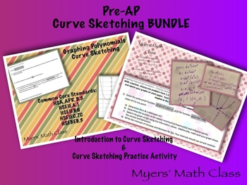 Pre-AP Intro to Polynomial Curve Sketching BUNDLE