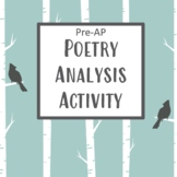 Pre-AP Poetry Analysis Exercise