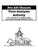 Pre-AP/Honors Tone Analysis Activity