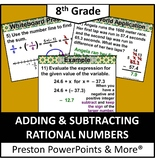 (8th) Adding and Subtracting Rational Numbers in a PowerPoint Presentation