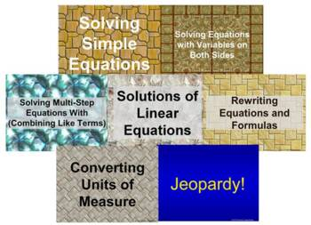 (8th) Equations {Bundle} in a PowerPoint Presentation