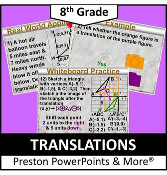(8th) Translations in a PowerPoint Presentation