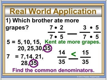 (8th) Comparing and Ordering Rational Numbers in a PowerPoint Presentation