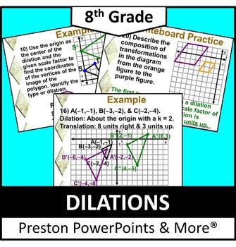 (8th) Dilations in a PowerPoint Presentation