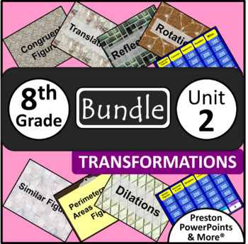 (8th) Transformations {Bundle} in a PowerPoint Presentation