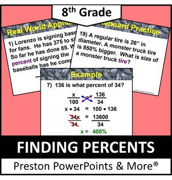 (8th) Finding Percents in a PowerPoint Presentation
