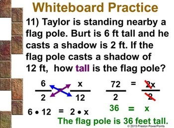 (8th) Using Similar Triangles in a PowerPoint Presentation