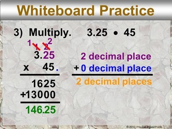(8th) Multiplying Rational Numbers in a PowerPoint Presentation