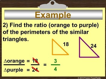 (8th) Perimeters and Areas of Similar Figures in a PowerPoint Presentation
