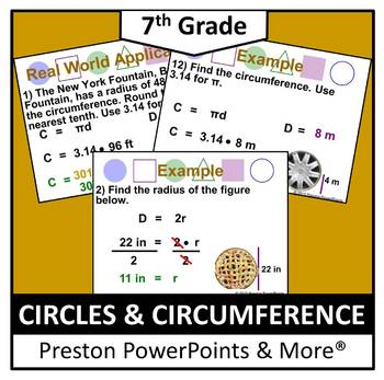 (7th) Circles and Circumference in a PowerPoint Presentation