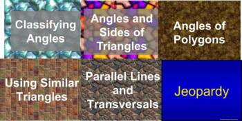 (8th) Angles and Triangles {Bundle} in a PowerPoint Presentation
