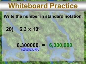 (8th) Reading Scientific Notation in a PowerPoint Presentation
